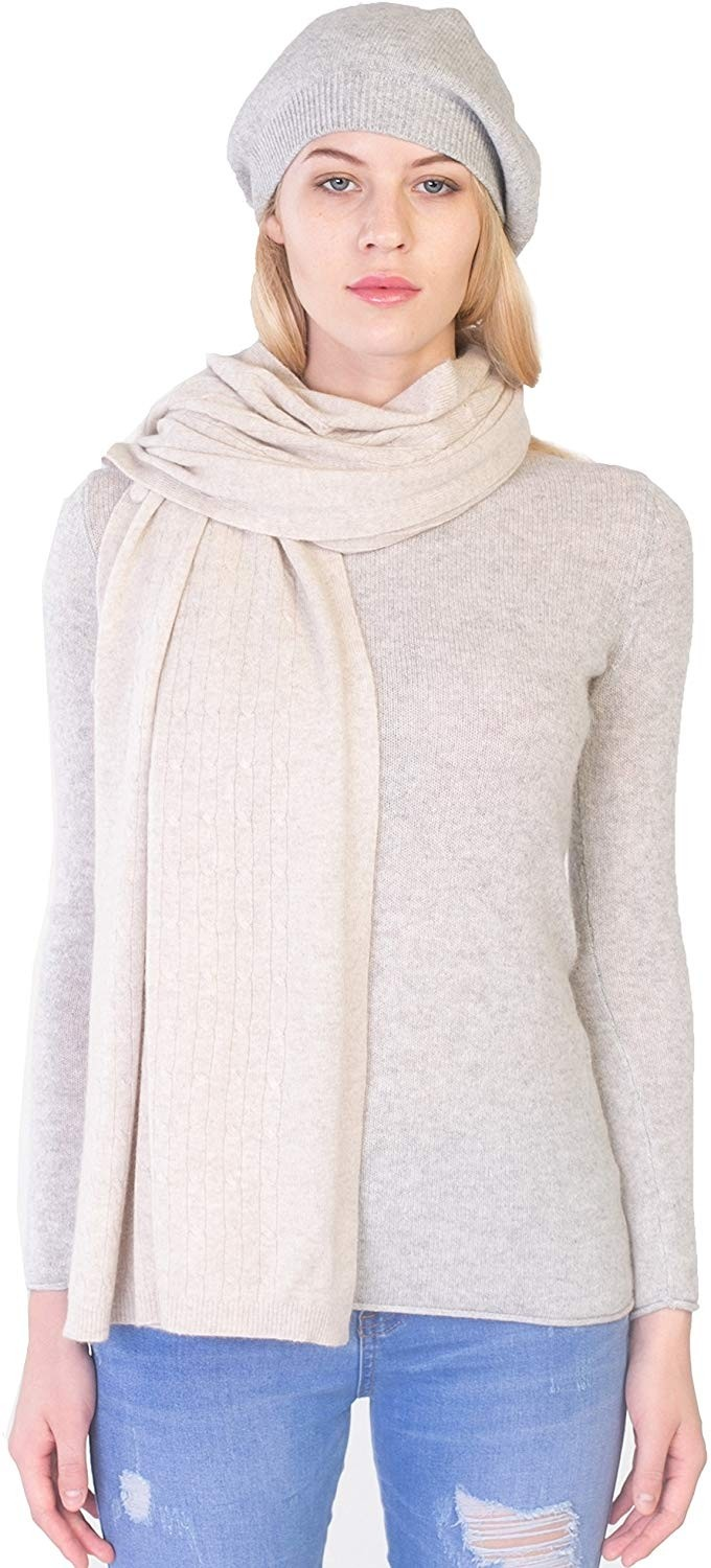 Women's 100% Cashmere Wrap Multi Use Shawl Extra Large Button Scarf
