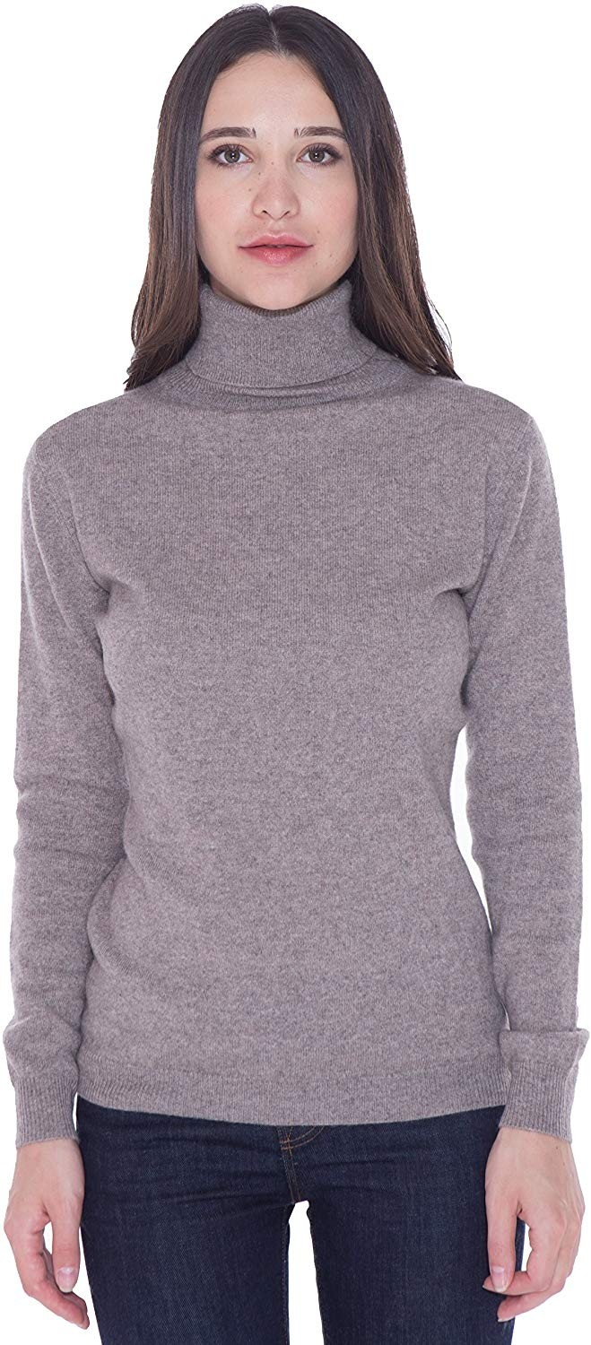 100% Cashmere Turtleneck Sweater Pullover For Women