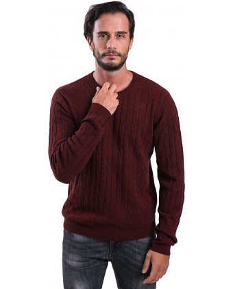 cashmere 4 U Pure Cashmere Round Neck Sweater Full Sleeve for Men