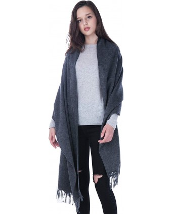 100% Pure Cashmere Shawl Travel Wrap (Stole) - Extra Large Scarf for Women